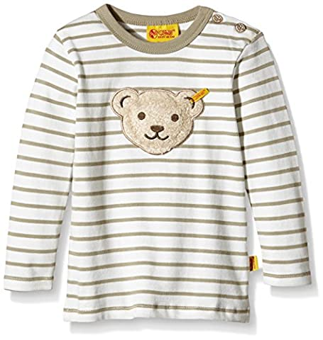 Steiff Collection Jungen, Sweatshirt, Sweatshirt 1/1 Arm, Beige (silver Sage 1120), 98