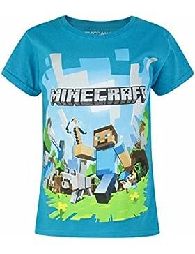 Minecraft - Camiseta de manga corta oficial de Minecraft modelo Adventure para niña