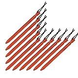 BB SPORT 10er Set Trekking Erdnägel Zeltheringe aus Aluminium Y-Profil Länge 18 cm leicht - nur 15 g je Stück; für gemischte, Harte und steinige Böden, Farbe:orange
