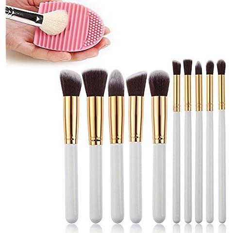 Sunroyal® Make Up Set de Brochas 10 Pcs Cepillo del Maquillaje de Madera Kit Cosmético Profesional Son Adecuados para el Uso Profesional o Casero