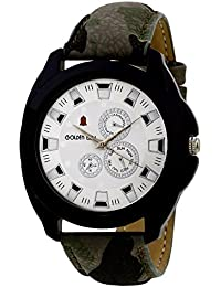 Golden Bell Original Chronograph Look White Dial Analog Wrist Watch For Men - GB-588
