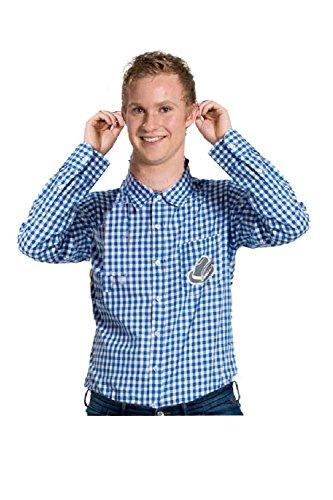Folat 63368 - Oktoberfest Hemd, M/L, Blau