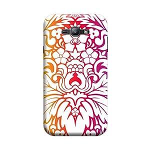Desicase Samsung J1 Swirl Pattern 3D Matte Finishing Printed Designer Hard Back Case Cover (Multicolor)