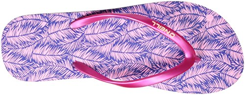 O'Neill Damen Fw Printed Flip Flop Zehentrenner Blau (BLUE Allover Print W/ PINK OR PURPLE)