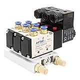 heschen Elektro-Pneumatische Magnetventil 3fach 4V210–08DC 12V PT1/45Way 2Position vielfältige Boden Schalldämpfer Quick Fittings Set