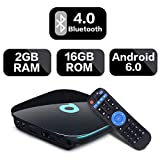 2017 LPX-G BOX 2GB + 16GB 2017 Android 6,0 TV Box con telecomando 4K WiFi Smart TV Box con quad core 64Bits CPU AmlogicS905X supporto Chip reale 4K WiFi 2.4GHz HDMI 2.0 Ethernet immagine