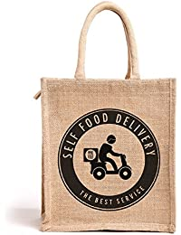 H&B Jute Handbag / Quality Lunch Bag / Gift Bag / Jute Stylish Lunch Bag / Combo Offers Of Jute Lunch Bags/ Lunch... - B0792T56B1