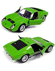 Kinsmart 1971 Lamborghini Miura P400 SV Die-Cast Car with Openable Doors and Pull Back Action