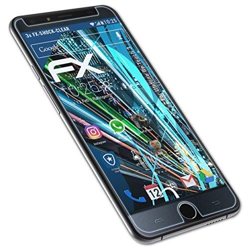 atFolix Schutzfolie kompatibel mit Ulefone Be Touch 3 Panzerfolie, ultraklare & stoßdämpfende FX Folie (3X)