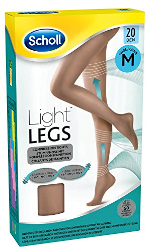 Scholl Light Legs Compression Tights 20, Den Nude