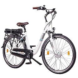 """NCM Munich N8C 28"""" E-Bike City Rad, 250W, 36V 13Ah 468Wh Akku, mit Rücktrittbremse (Weiß N8C 28"""")"""