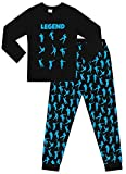 The Pyjama Factory Emote Legend - Pijama Largo de algodón para Juegos de Baile, Color Negro y Azul Negro Negro (13-14 Años
