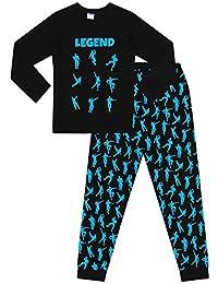 Pijama largo de algodón azul y negro de The Pyjama Factory, Emote Legend videojuegos y baile