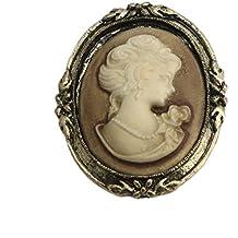 Chiic mujeres Retro broche camafeo victoriano, echarpes hebilla cierre de solapa pines Corsage regalo de
