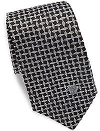 Versace Men's Geometric Print Italian Silk Tie