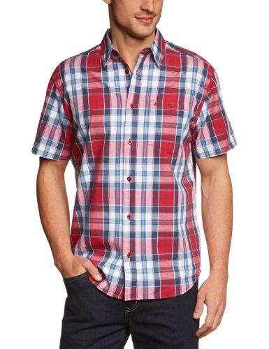 Wrangler maniche corte 1pocket Casual Camicia da uomo rosso Small