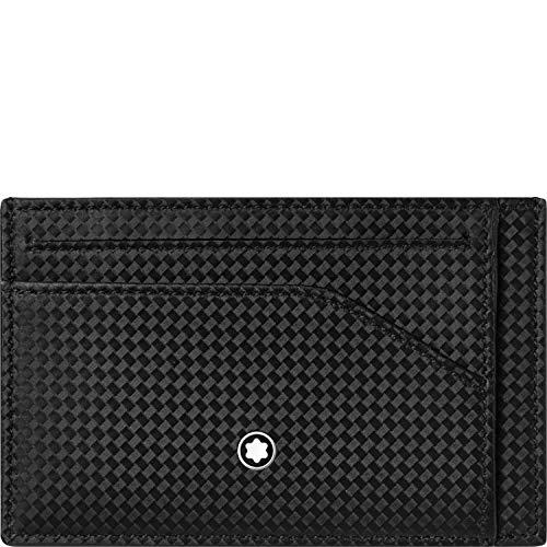 Porta Carte Montblanc in Pelle: logo in metallo quattro scomparti per carte uno scomparto per banconote duetasche verticali made in Italy. 100% leather;