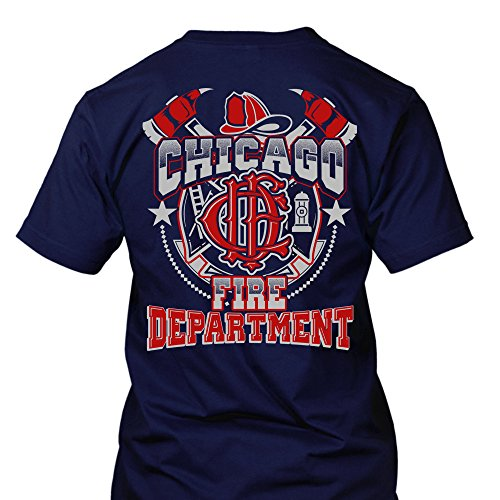 Chicago Fire Dept. - Design T-Shirt (XL) (Chicago T-shirt Herren)