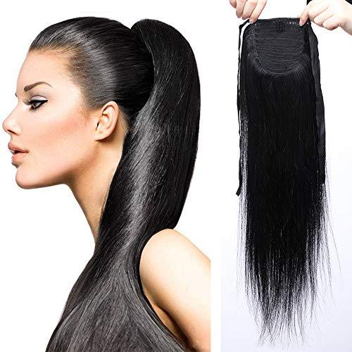 Sego extension clip coda di cavallo capelli veri naturali lisci 50cm 20