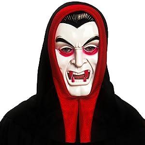 Carnival Toys 01049 - máscara de vampiro para adultos, blanco