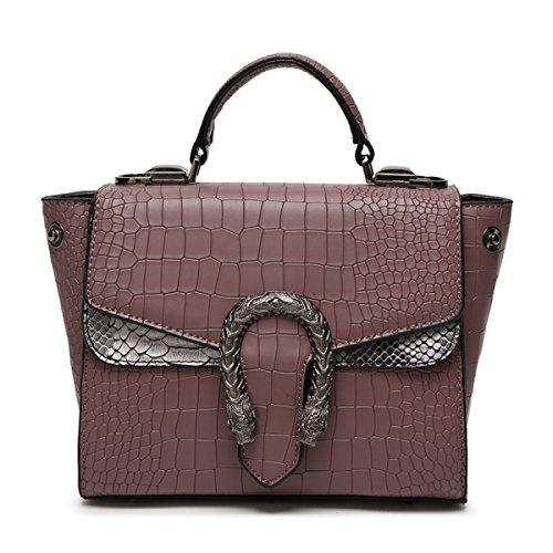 Damenmode Handtasche Brieftasche Schlange Umhängetasche Purple