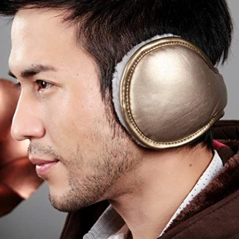 Hombres y mujeres de cuero caliente orejeras orejeras heladas de invierno crack earmuff protección auditiva ,el