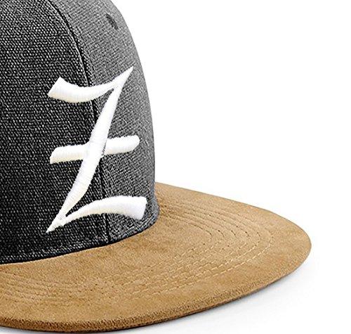 Snapback Cap toit en suède Casquette de Baseball Bonnet Chapeau Snap back 3D Gothique A-Z (Z)