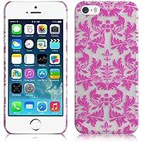 JAMMYLIZARD | Damast- Motiv Back Cover Hülle für iPhone 5 und 5s, ROSA
