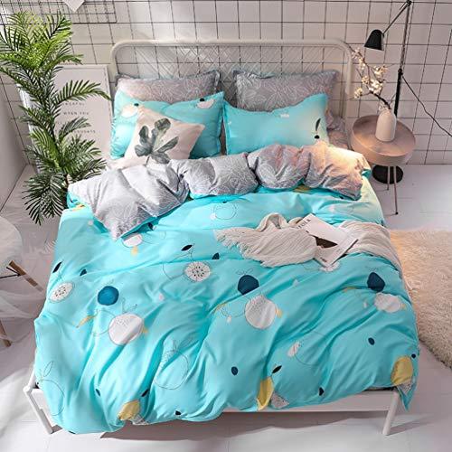 JWANS Bettwäsche Erwachsene Bettbezug Set Weiche Baumwolle Bettlaken Kissenbezug Home Hotel Bettwäsche Sets Twin Volle Größe (Tween Mädchen Für Bettwäsche Twin)