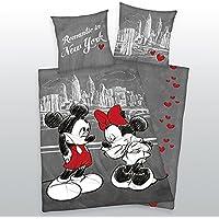 Bettwäsche Disney Mickey Mouse Kiss Bezug 135x200cm Kissen 80x80cm