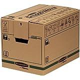Fellowes 6205201 - Lot de 5 caisses de déménagement à charge lourde montage automatique SmoothMove - Petit