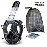 LUJOR Full Face Snorkel Mask, ONE SIZE FITS ALL, 2018 *new* Diving Mask with Go Pro Mount and Ear Pressure Equaliser, Anti Fog, Anti-Leak Snorkeling