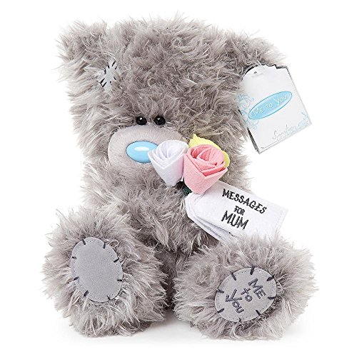 Glamour Girlz Soft Grey Me To You Medium Plush Tatty Teddy Bear Mum Flowers