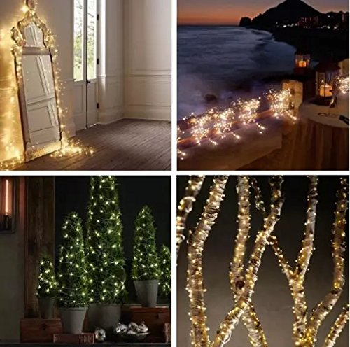 TONY STARK Copper String Battery Operated LED Lights, Fairy,Garden, Decoration Party Wedding Diwali Christmas Copper String Lights