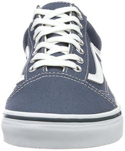 Vans Herren UA Old Skool Sneaker Blau (Canvas Dark Slate/true White)