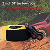 Broadroot Train de Corde 5 m 5 tonnes Heavy Duty Car Recovery Tow Strap Towing Rope...