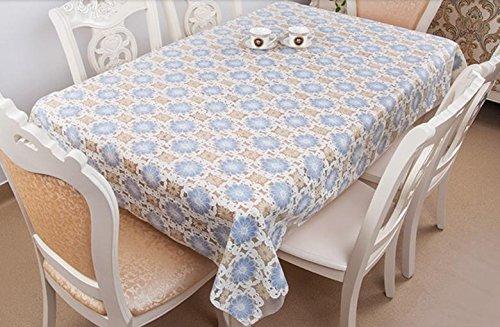 hte PVC Tischdecken Oilproof nicht waschen Plastikauflage anti heißen Kaffee Tischdecke , 7 , 100*170cm ()