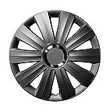 14 Zoll Radzierblenden VIPER (Graphit). Radkappen mit Chromring passend für fast alle VW Volkswagen wie z.B. Polo 9N!