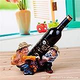 Vino vino rack Houlder Housewares creativo vino rack contadino Uncle creativo portabottiglie portabottiglie in resina