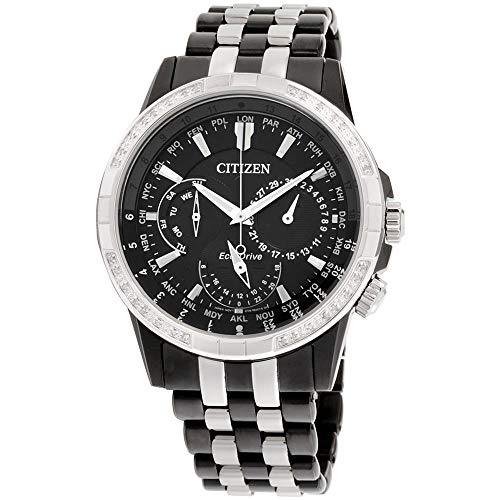 Citizen Calendrier Homme Diamant 44mm Eco-Drive Montre BU2088-50E