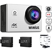 Action Cam 4K,WiMiUS Sport Action Camera WIFI Full HD 16MP,