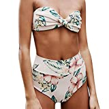 VECDY Bikini Damen Set Sexy Bikini Set Print Bademode Push-Up Gepolsterter Badeanzug Bikini Mädchen Bikini Sport Oberteil Unterwäsche Höschen BH