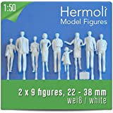 18 Model Figures white / unpainted, scale 1:50 (approx. 0-Scale)