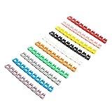 Sourcingmap® Nombre Plastique 0-9 Barres Étiquette Organisateur câbles Cordon coloré marqueur 10pcs