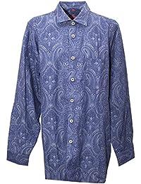 Signum, Freizeithemd langarm, Classic Cut, dunkelblau gemustert [16061]