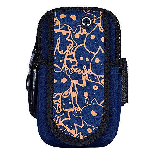 Multi-functional Outdoor Running Arm Bag Leica Cloth Breathable Mobile Phone Arm Bag Multi-functional Sports Arm Bag (Color : Cat)