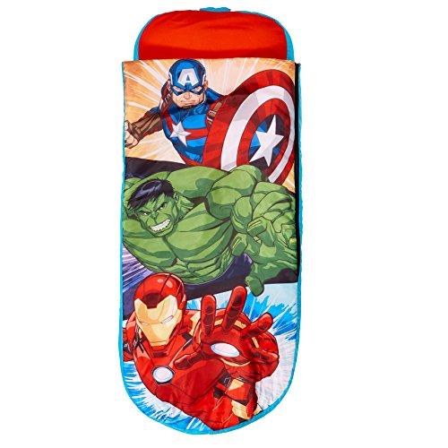 Avengers Junior-ReadyBed - Kinder-Schlafsack und Luftbett in einem, Polyester, Red, 150 x 62 x 20 cm