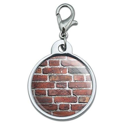 chrome-plated-metal-small-pet-id-dog-cat-tag-places-and-things-brick-wall-bricks-mason-masonry