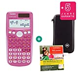 Casio FX 85 GT Plus Pink + Schutztasche + Lern-CD (auf Deutsch) + Erweiterte Garantie