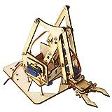 Garosa Braccio Robotico in Legno 4DOF Kit Braccio Robotico Meccanico con Sg90 Servo Leggero Fai da Te Robot Meccanico Braccio Kit Assemblato per Arduino Lampone Pi SNAM1500